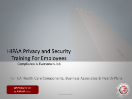 Security in Higher Education - HIPAA