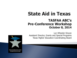 The Texas Higher Education Coordinating Board