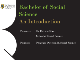 An Introduction - School of Social Science