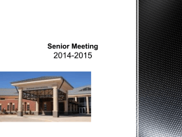 Senior Meeting Powerpoint