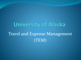 TEM Presentation (PowerPoint) - University of Alaska Anchorage