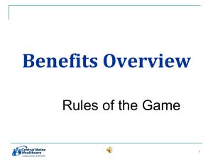 Benefits Overview, Rules of the Game