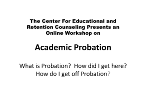 Academic Probation - Nassau Community College