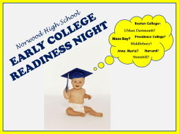 Early College Readiness Powerpoint