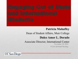 engaging international and out of state students - Blink