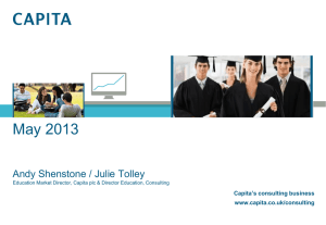 Julie Tolley, Capita`s Consulting Business