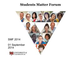 Students Matter - University of Tasmania