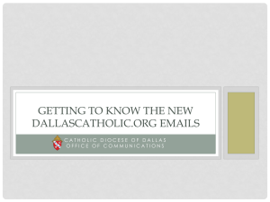 Getting to know the new DallasCatholic.org emails