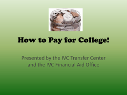 How to Pay for College