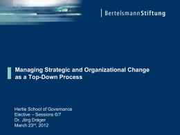 The Guidelines for Strategic Policy Reform