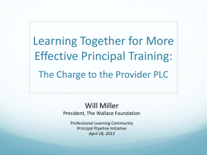 Learning Together for More Effective Principal Training