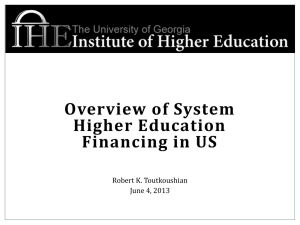 Higher Education Finance Part 1-Toutkoushian
