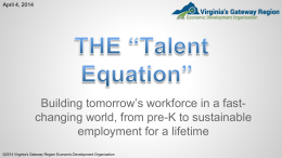 An Economic Developer*s *Talent Equation*