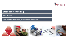 Statistical consulting - University of Aberdeen