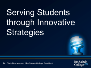 Rio Salado College Powered by Innovation