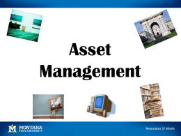 Asset Management Training - Montana State University