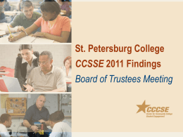 CCSSE - St. Petersburg College