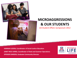 Microaggression - Student Affairs