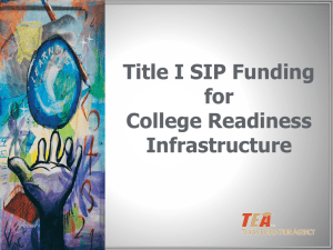 Infrastructure for College Readiness