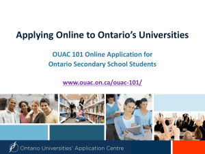 OUAC Application Process