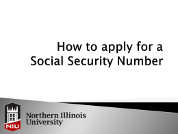 How to apply for a Social Security Number