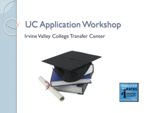 UC Application Workshop