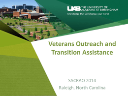 M1.3 Veterans Outreach and Transition Assistance