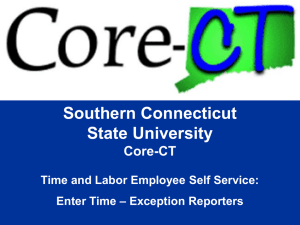 Enter Time - Southern Connecticut State University
