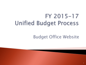 2015-17 Unified Budget Process Powerpoint