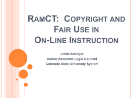 RamCT: Copyright and Fair Use in Online Instruction