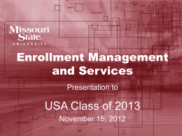 2012 USA Presentation - Missouri State University