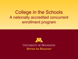 insert your school name here - College of Continuing Education