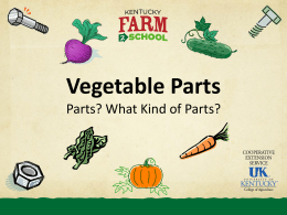 VEGETABLE PARTS - Kentucky Department of Agriculture