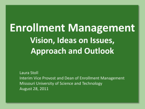 Approach to Enrollment Management