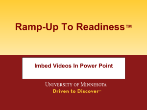 University of Minnesota College Readiness Consortium Contents