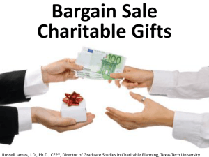 Bargain Sale Charitable Transactions