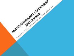 Multidimensional Leadership and Change