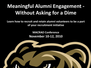 Meaningful Alumni Engagement