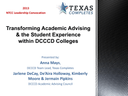 Transforming Academic Advising & the Student Experience within