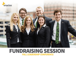 Fundraising Content Session
