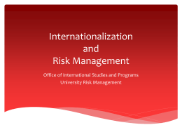 Internationalization and Risk Management