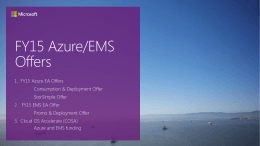 FY15 Azure BIF Offers