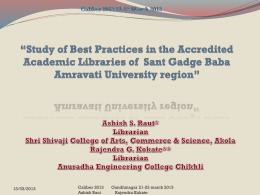 Study of Best Practices in the Accredited Academic Libraries of Sant