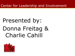 Online Presentation - The Center for Leadership & Involvement