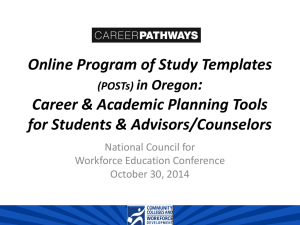 Program of Study Templates - National Council for Workforce