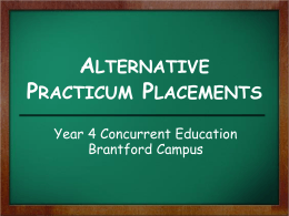 What is an Alternative Placement?