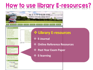 Library E-resources