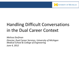 Melissa Dorfman, University of Michigan