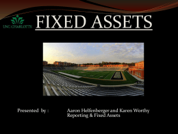 Reporting & Fixed Assets