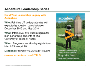 Accenture Leadership Series